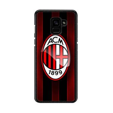 Guard Case Plus Ac Milan O1209 Cust ... or Samsung Galaxy A8 2018