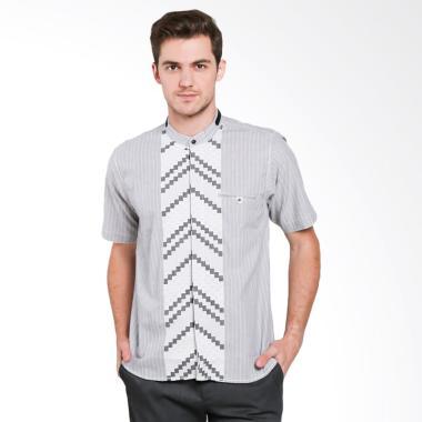 Fayruuz Modern Baju Koko Lengan Pendek - Abu XL Grey