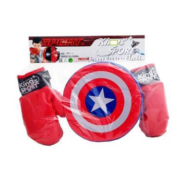 MOMO Boxing Set King Sport Captain America Mainan Anak