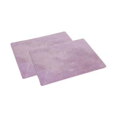 ENJOY101 Machine Washable Non-slip Carpet Puzzle Mats - Purple [2 Pcs]