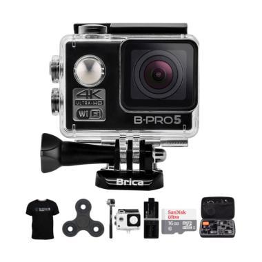 Brica B-PRO 5 Alpha Edition AE1 4K  ... m Spin Action Cam - Hitam