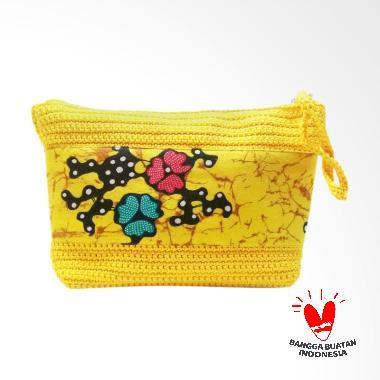 SS Motif Batik Clutch Bag - Kuning
