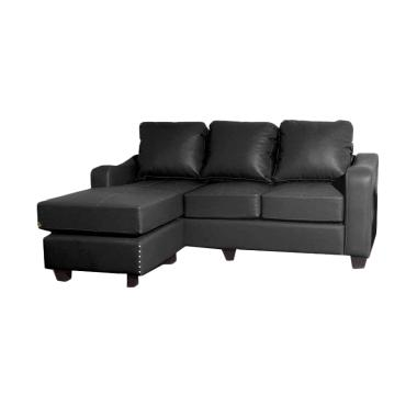 Creova Delany Sofa L - Rich Black