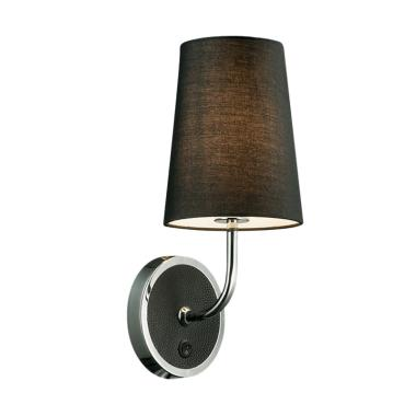 3+Projects T-C Fabric Shade Lampu Dinding - Black