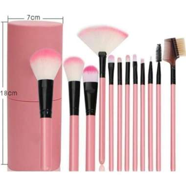 harga Unik Brush Tabung  Kuas MakeUp Set 12 pcs Diskon Blibli.com