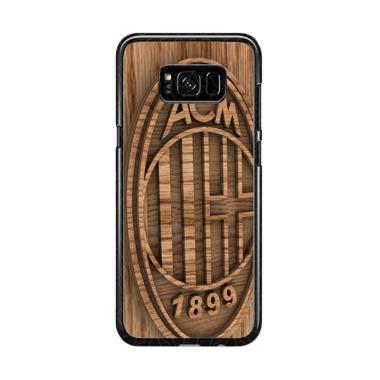 Guard Case Ac Milan Wood O1207 Cust ... or Samsung Galaxy S8 Plus