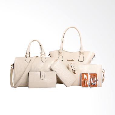 Lansdeal Fashion Set Tas Wanita - White [6 pcs]