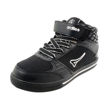 Ardiles Aston Sepatu Sekolah Anak - Hitam Putih