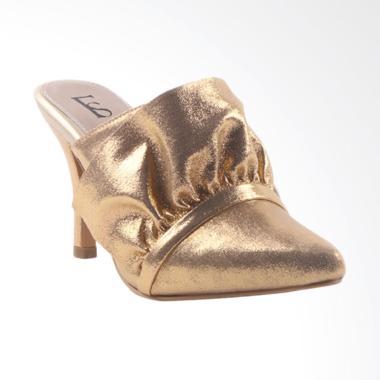 Farish Velina Heels Sandal Wanita - Gold