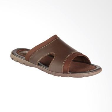 Bata Qanze Sandal Pria - Brown [8744207]
