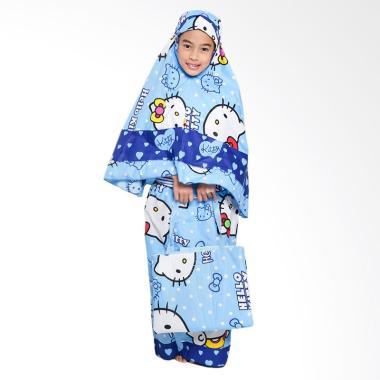 Zahra Kids Hello Kitty Polkadot Mukena Anak - Biru