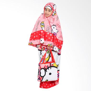 Zahra Kids Hello Kitty Mukena Anak - Red Fanta Bow