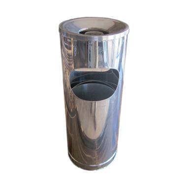 Kampung Kaleng Standing Ashtray Tempat Sampah - Silver