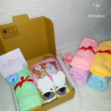 harga HAMPERS BABY NEW BORN UNISEX FREE EMPENG DOT PAKET KADO LAHIRAN GIFT BOX PARCEL HANDUK BAYI TERMURAH Blibli.com