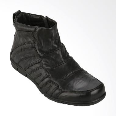 Gino Mariani Raymond Exclusive Casual Leather Sepatu Pria - Black