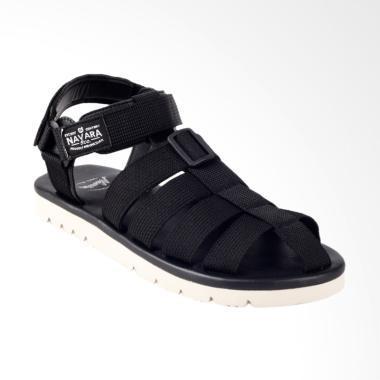 Navara Teva Woodley Sandal Santai Pria - Black