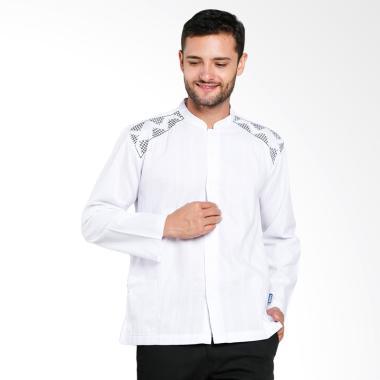 Aitana Bordir Baju Koko Pria - Putih [YN-11713-LS]