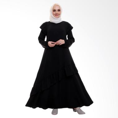 Allev Zalfa Dress Muslim Wanita - Hitam