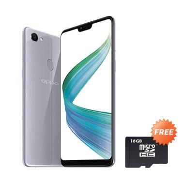 OPPO F7 Smartphone - Silver [4GB/ 64GB] + Free MMc 16 GB
