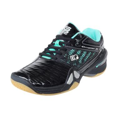 Hi-Qua Grand Prix Sepatu Badminton - Black Turquoise