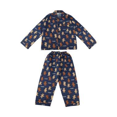 Minimi Teddy Bear Setelan Baju Tidur Piyama Anak Laki Laki - Biru