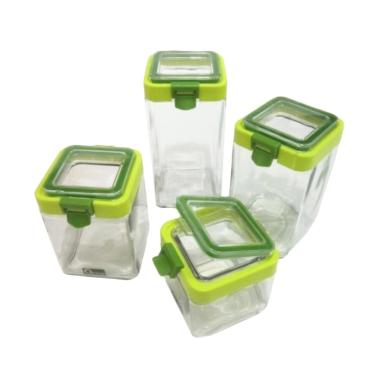 Oxone OX-304 Storage Canister Set Toples Kaca