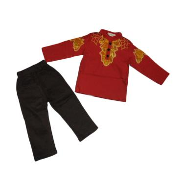 VERINA BABY Setelan Baju Koko Anak - Red