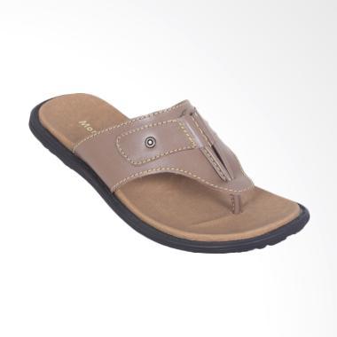 WIN Leather Kulit Sandal Pria - Cokelat [FTP S-88]