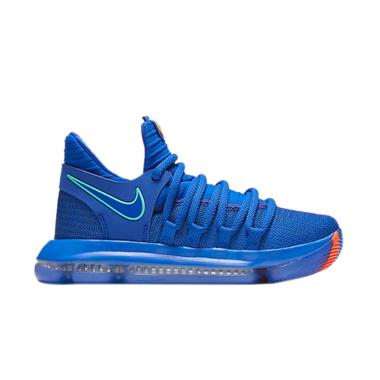 NIKE Zoom Sepatu Basket Pria - Blue [KD10 BG]