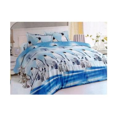 Romeo Motif 3D Penguin Disperse Set Bedcover