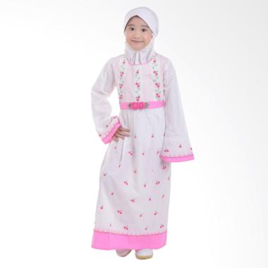 Jesca and Paul Clara 206 Gamis Baju Muslim Anak - White