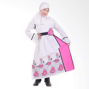Jesca and Paul Ayesha 209 Gamis Baju Muslim Anak - White