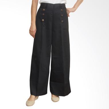 Adore Ladies Palazo Kancing 6 Celana Panjang Wanita - Black