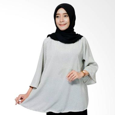 Ayda Jumbo Blouse Muslim Wanita - Broken White Motif
