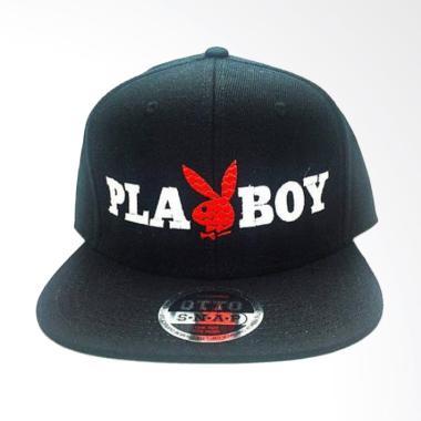 Jersi Clothing Playboy Snapback Topi Pria - Hitam b6b579d64d