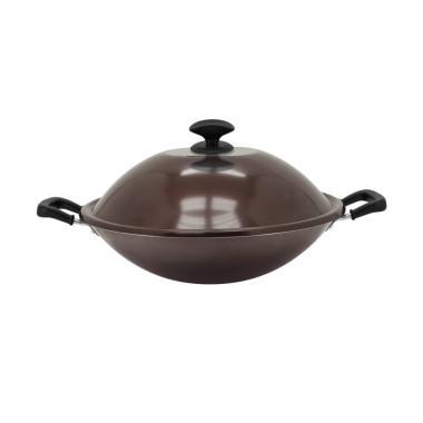 Maxim Millenia Select Bronze Teflon Wok with Tutup Alm Wajan [36 cm]