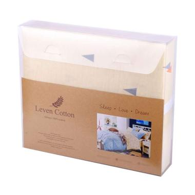 Leven Cotton Cappuccino Crema Katun Jepang Fitted Sheet Set Sprei