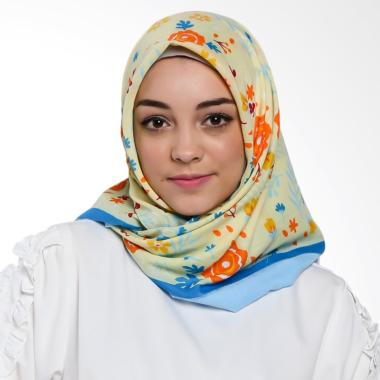 Ansania Saudia 10 Motif Little Flower Jilbab Segiempat - Yellow