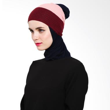 Ayda 2 Warna Inner Rajut - Pink Maroon