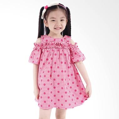Kids Icon CGDT0200180 Curly Open Shoulder Dress Anak Perempuan