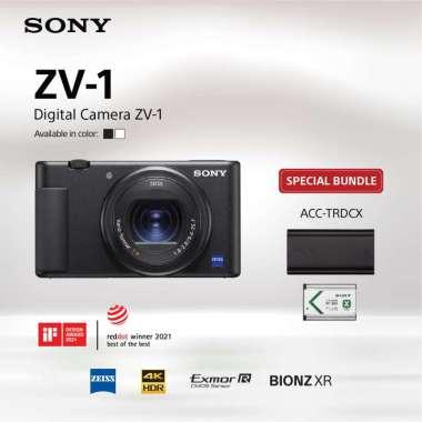 harga SONY ZV-1 / Sony Original ZV1 / Kamera Digital Sony ZV-1 warna Hitam Bundling ACC-TRDCX Black Blibli.com