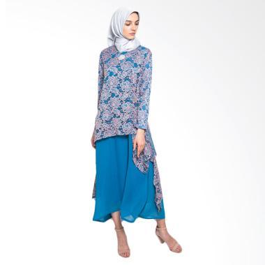 Kasa Heritage Aria Set Dress Gamis Wanita - Biru Pink