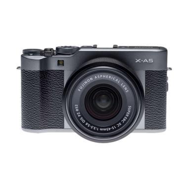 Fujifilm X-A5 XA5 Dark SIlver Kit 1 ...   jpckemang GARANSI RESMI