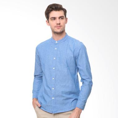 osella-men_osella-men-striped-dobby-shirt-baju-koko-pria---blue_full05 10 Harga Baju Koko Untuk Remaja Cowok Terlaris 2018