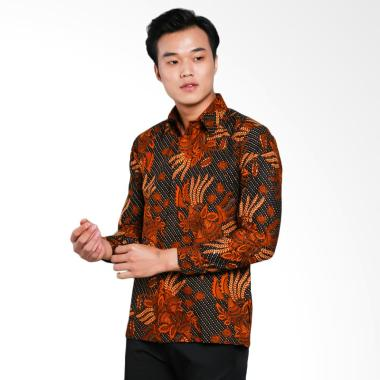 AWANA Lereng Hatta Modern Slim Fit Kemeja Batik Pria - Coklat
