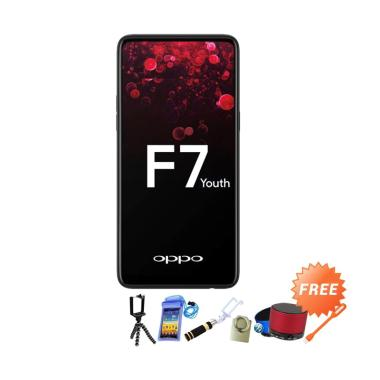 OPPO F7 Youth Smartphone - Red [64GB/ 4GB] + Free Aksesoris 8 pcs