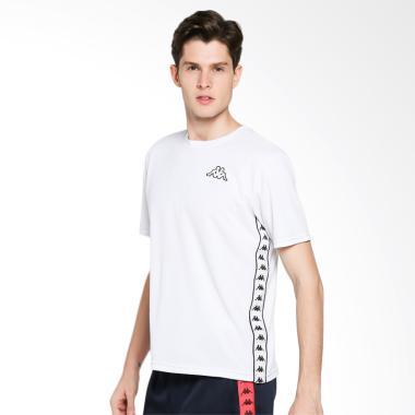 Kappa Gamma Banda Jersey Kaos Olahraga Pria - White 4220949070