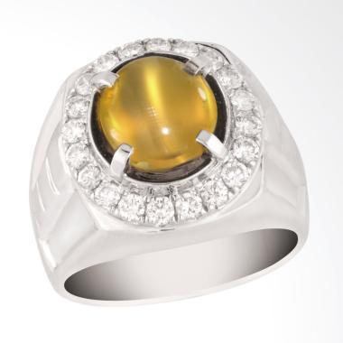 Posh Jewellery GBR 14009534 Natural Cats Eye Chrysoberyl Men's Ring