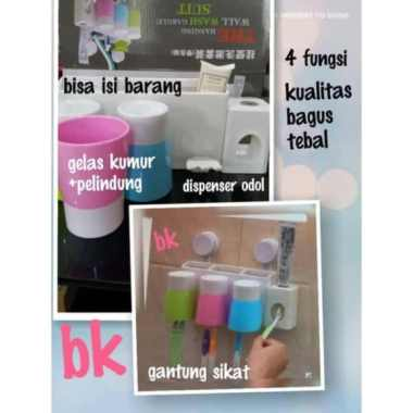 harga Jual BESAR Dispenser Odol dan Tempat Sikat Gigi  alat mandi lengkap Set Murah Blibli.com