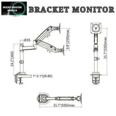 harga Stand monitor meja Bracket monitor meja 14-32